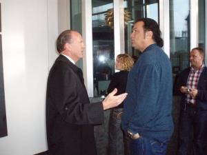 US Ambassador Caine and Steven Seagal
